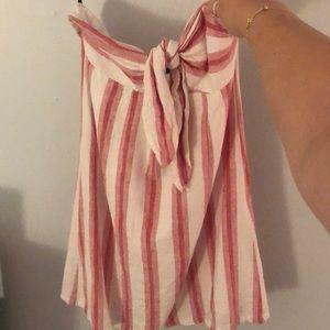 Forever 21 strapless striped dress